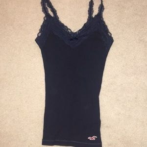 Hollister Navy Blue tank top with lace